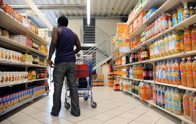 Dans les rayons d'un supermarché à Fort-de-France, en Martinique, le 30 mars 2013 [Jean-Michel Andre / AFP/Archives]