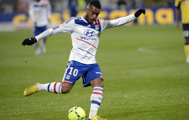 L'attaquant de l'OL Alexandre Lacazette, le 31 mars 2013 au Stade Gerland à Lyon [Philippe Merle / AFP/Archives]
