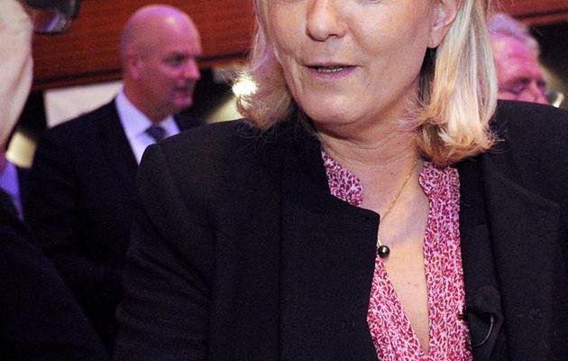 La présidente du FN, Marine Le Pen, à Paris le 11 avril 2013 [Pierre Andrieu / AFP/Archives]