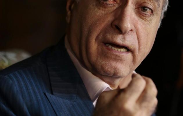 L'homme d'affaires franco-libanais Ziad Takieddine lors d'une conférence de presse, le 12 avril 2013 à Paris [Jacques Demarthon / AFP/Archives]