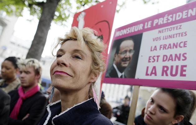 Virginie Tellene alias Frigide Barjot, le 15 avril 2013 à Paris [Kenzo Tribouillard / AFP/Archives]