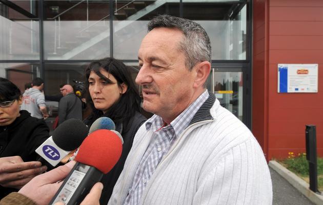 Jean Aparicio, représentant (FO) du personnel de Spanghero, le 26 avril 2013 à Castelnaudary [Eric Cabanis / AFP/Archives]