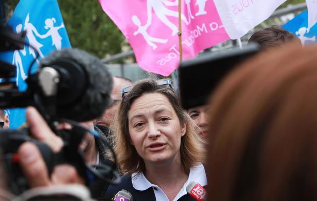 Ludovine de la Rochère, présidente de la Manif pour tous, le 5 mai 2013 à Paris [Loic Venance / AFP/Archives]