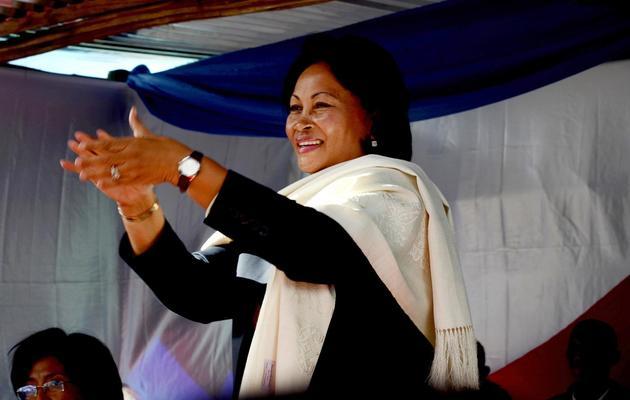 Lalao Ravalomanana, épouse de l'ex-président renversé Marc Ravalomanana et candidate à la présidentielle malgache, le 4 mai 2013 à Antananarivo [Bilal Tarabey / AFP/Archives]