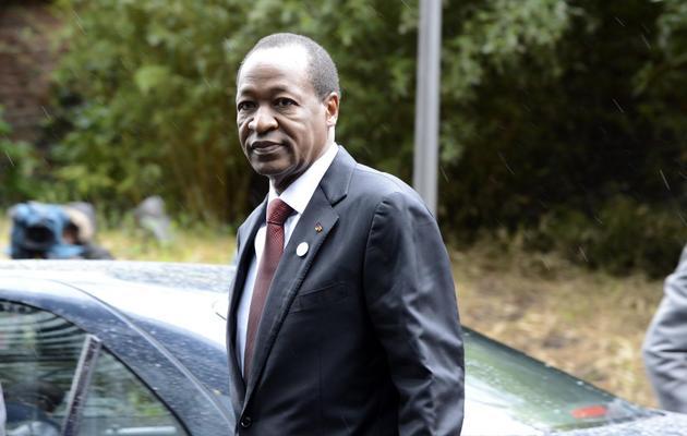 Le président burkinabè Blaise Compaoré, le 15 mai 2013 à Bruxelles [Thierry Charlier / AFP/Archives]
