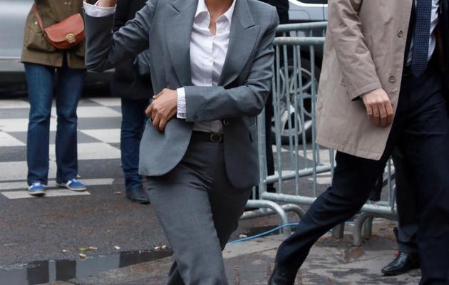 La porte-parole du gouvernement Najat Vallaud-Belkacem à Paris [Pierre Verdy / AFP/Archives]