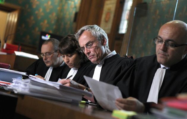 Etienne Noël (2eD), défenseur d'un des accusés, au tribunal de Rouen, le 21 mai 2013 [Charly Triballeau / AFP]