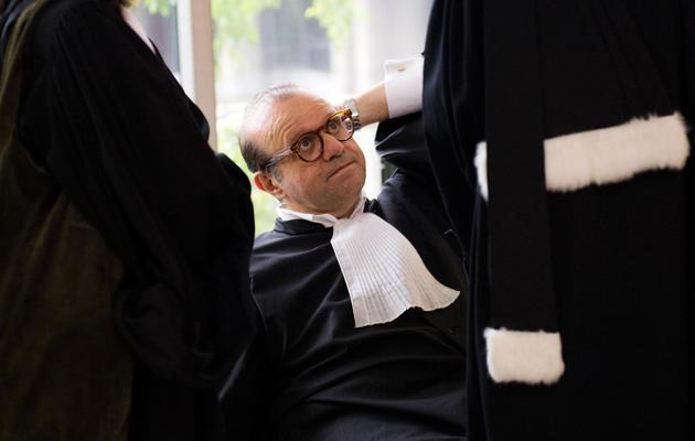 Hervé Témime avocat de Jacques Servier au tribunal de Nanterre, le 21 mai 2013 [Lionel Bonaventure / AFP]