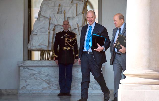 Le ministre de l'Economie et des Finances, Pierre Moscovici, quitte l'Elysée, le 22 mai 2013, à Paris [Martin Bureau / AFP]
