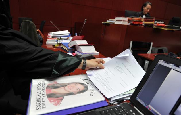 Photo de Laetitia sur un document de la cour d'assises de Loire-Atlantique à Nantes, le 22 mai 2013 [Frank Perry / AFP/Archives]