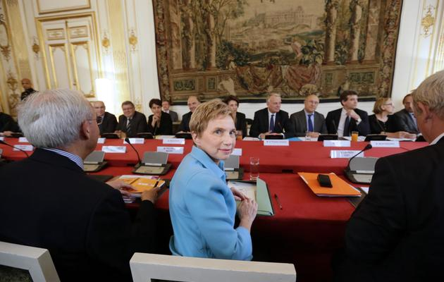 Laurence Parisot, présidente du Medef à Matignon pour préparer la conférence sociae, le 22 mai 2013 à Paris [Kenzo Tribouillard / AFP]