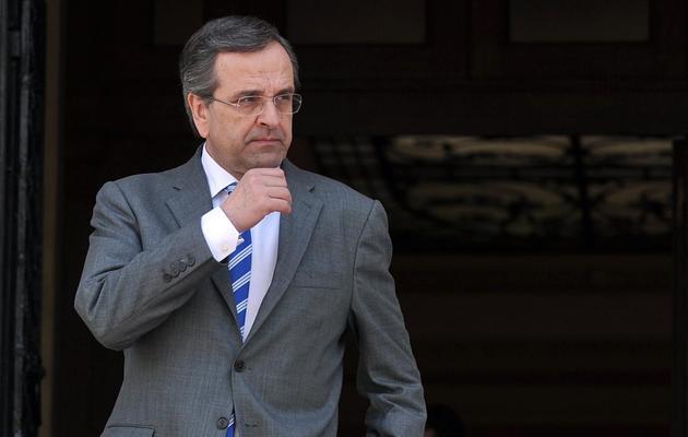Le Premier ministre grec Antonis Samaras, le 23 mai 2013 à Athènes [Louisa Gouliamaki / AFP/Archives]