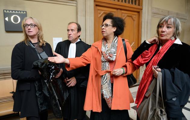 """Prisca"" Ligeron, Lydia Naval et Anne Lafitte [Eric Feferberg / AFP]"
