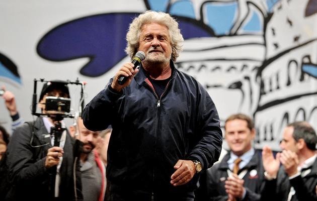 Beppe Grillo en meeting le 24 mai 2013 à Rome [Tiziana Fabi / AFP/Archives]