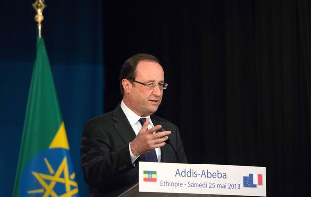 François Hollande le 25 mai 2013 à Addis Abeba [Bertrand Langlois / AFP]