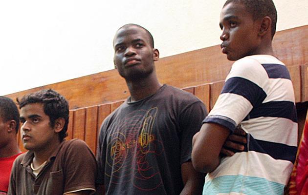 Michael Adebolajo (c), le 23 novembre 2010, à Mombasa au Kenya [Michael Richards / AFP/Archives]