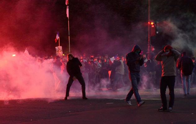 Des heurts entre la police et des manifestants anti-mariage homosexuel, à Paris, le 26 mai 2013 [Eric Feferberg / AFP]