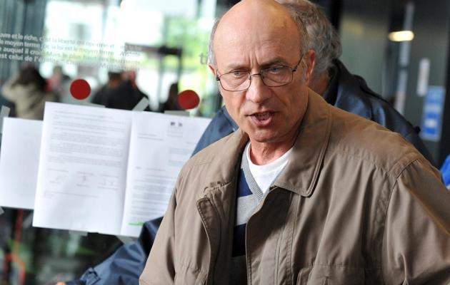 Gilles Patron, père de l'ex-famille d'accueil de Laetitia Perrais, au Ttribunal de Nantes, le 30 mai 2013 [Frank Perry / AFP]