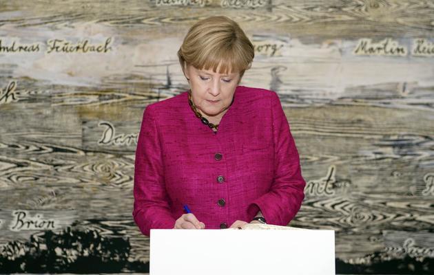 La chancelière allmande Angela Merkel, le 30 mai 2013 à Paris [Etienne Laurent / Pool/AFP/Archives]