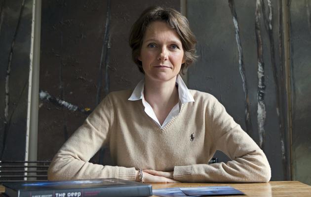 Claire Nouvian, présidente-fondatrice de l'ONG Bloom, photographiée le 14 mai 2013 à Paris [Patrick Kovarik / AFP/Archives]