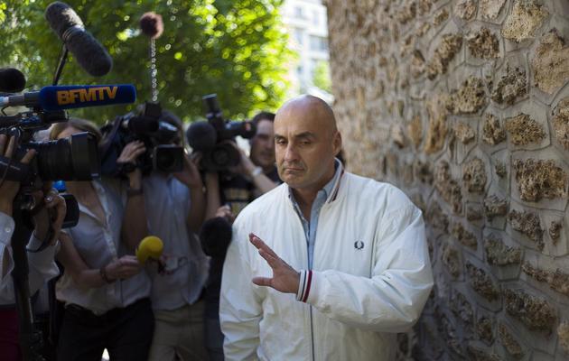 Serge Ayoub, responsable des Jeunesses  Jeunesses nationalistes révolutionnaires (JNR)  le 7 juin 2013 à Paris [Fred Dufour / AFP]