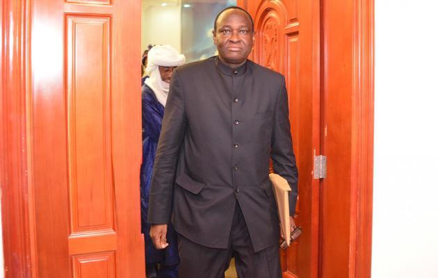 Tiébilé Dramé, conseiller spécial du président malien Dioncounda Traoré arrive au palais présidentiel de Ouagadougou, le 10 juin 2013 [Ahmed / AFP/Archives]