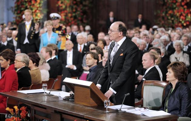 Le président du Sénat néerlandais Fred de Graaf prononce un discours lors de la cérémonie d'intronisation du roi Willem-Alexander, à Amsterdam le 30 avril 2013 [Peter Dejong / Pool/AFP/Archives]