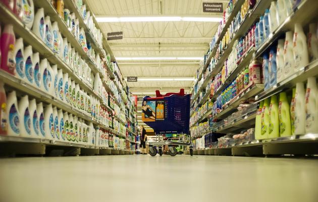 Dans l'hypermarché Carrefour de Sainte-Geneviève-des-Bois, le 14 juin 2013 [Fred Dufour / AFP]