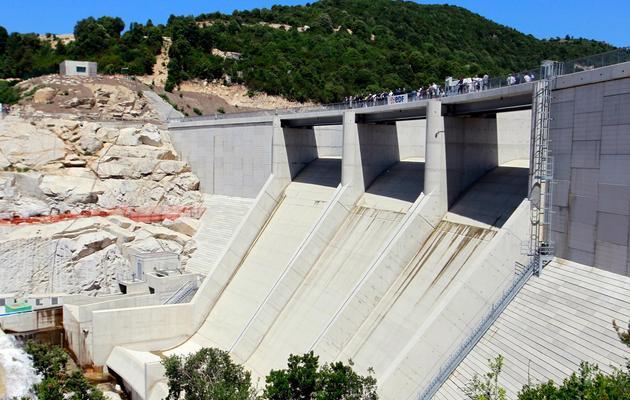 Le barrage hydroélectrique de Rizzanese (Corse-du-Sud), le 17 juin 2013 [Pascal Pochard Casabianca / AFP]