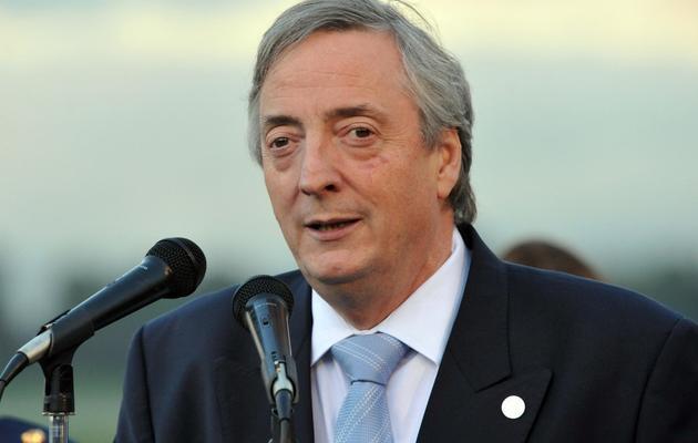 Nestor Kirchner le 6 août 2011 à Bogota [Guillermo Legaria / AFP/Archives]