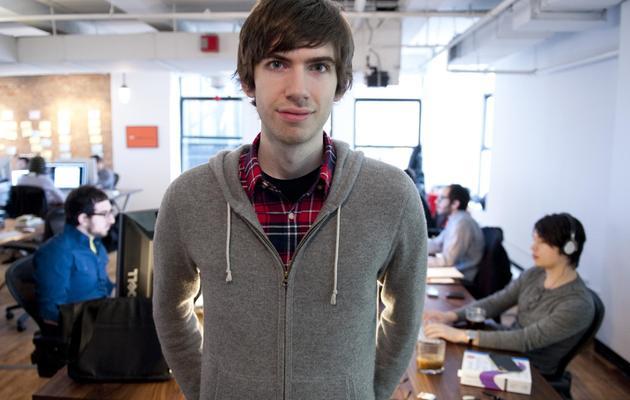 Le fondateur de Tumblr, David Karp, le 2 février 2012 dans les locaux de son entreprise, à New York [Don Emmert / AFP/Archives]