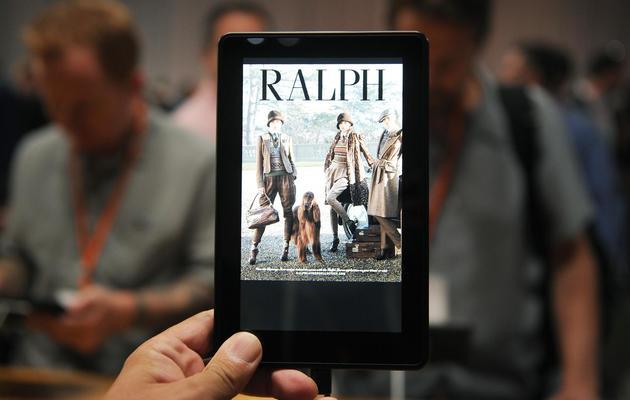 La liseuse Kindle d'Amazon, photographiée le 6 septembre 2012 à Santa Monica [Joe Klamar / AFP/Archives]