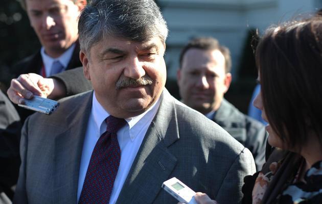 Richard Trumka, chef du puissant syndicat AFL-CIO, le 13 novembre 2012 à la Maison Blanche à Washington DC [Mandel Ngan / AFP/Archives]