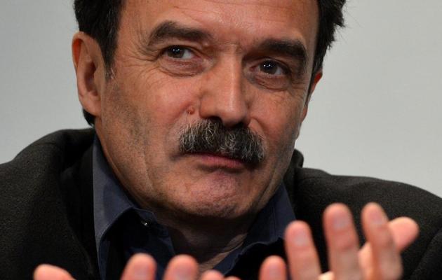 Edwy Plenel, patron et fondateur du site d'information Mediapart, le 12 avril 2013 à New-York [Stan Honda / AFP/Archives]