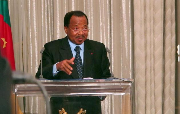Le président du Cameroun Paul Biya à Yaounde, le 19 avril 2013 [Reinnier Kaze / AFP/Archives]