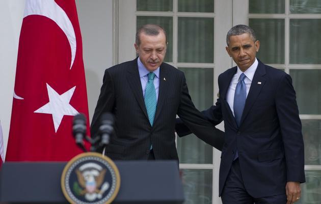 Le Premier ministre turc Recep Tayyip Erdogan et Barack Obama, le 16 mai 2013 à Washington DC [Saul Loeb / AFP]