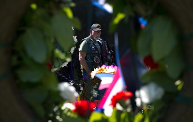 Un ancien combattant, le 25 mai 2013 à Washington [Nicholas Kamm / AFP]
