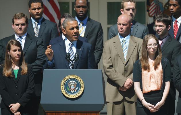 Le président Barack Obama prononce un discours sur les prêts étudiants dans la roseraie de la Maison blanche, le 31 mai 2013 [Mandel Ngan / AFP/Archives]