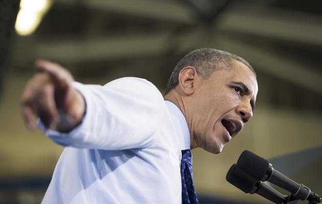 Barack Obama, le 12 juin 2013 à Boston (Massachusetts) [Jim Watson / AFP]