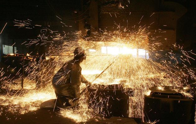 Un salarié sur le site d'Ascométal à Fos-sur-Mer, le 12 Avril 2006  [Boris Horvat / AFP]
