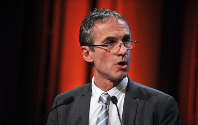 Thierry Roquefeuil, président de la Fédération nationale des producteurs de lait (FNPL), le 21 mars 2013 à Nantes [Frank Perry / AFP/Archives]