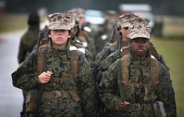 Des recrues féminines du corps d'élite des Marines aux Etats-Unis en 2013 [Scott Olson / Getty/AFP/Archives]