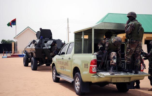 Des soldats nigérians en patrouille le 5 juin 2013 dans l'Atat de Borno [Quentin Leboucher / AFP/Archives]