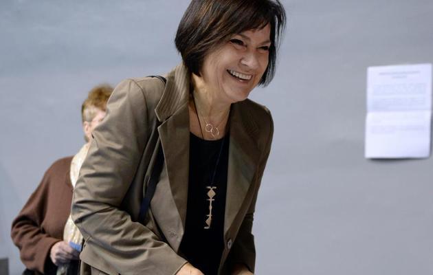 Marie-Arlette Carlotti lors de la primaire socialiste le 13 octobre 2013 à Marseille [Anne-Christine Poujoulat / AFP/Archives]