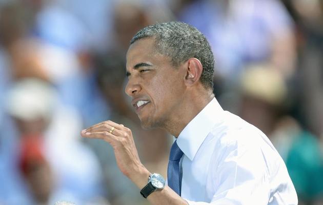 Barack Obama lors de son discours du 19 juin 2013 à Berlin [Christof Stache / AFP]
