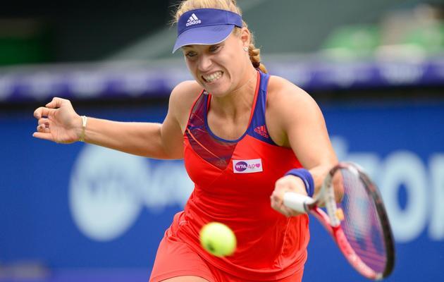 Angelique Kerber en finale du tournoi de Tokyo contre Petra Kvitova le 28 septembre 2013 à Tokyo [Toru Yamanaka / AFP]