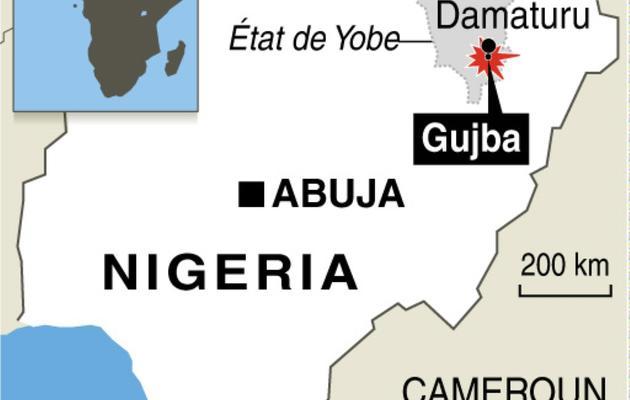Localisation de la ville de Gujba où une attaque de Boko Haram a eu lieu dimanche [ / AFP]