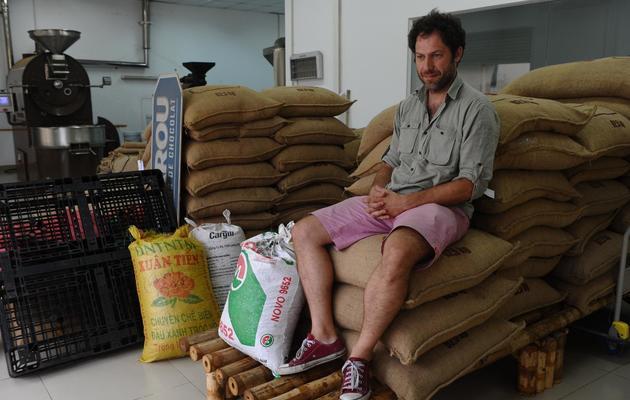 Vincent Mourou, co-fondateur de la première chocolaterie du Vietnam, le 18 novembre 2013 [Hoang Dinh Nam / AFP/Archives]