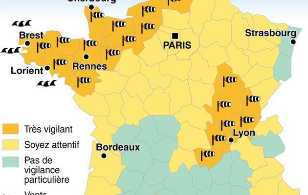 23 départements en vigilance orange [JM. Cornu/MM.Le Moël / AFP]