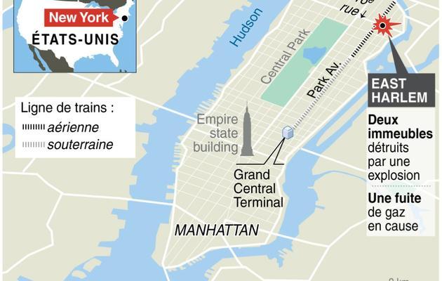 Effondrement de deux immeubles à New-York [K. Tian / J. Storey / AFP]